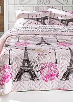 Покрывало стеганное с наволочками Eponj Home - Fromparis розовое 200*220