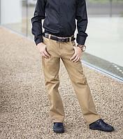 Школьные брюки для мальчика коттон синий черный беж размер: 122, 128, 134, 140, 146