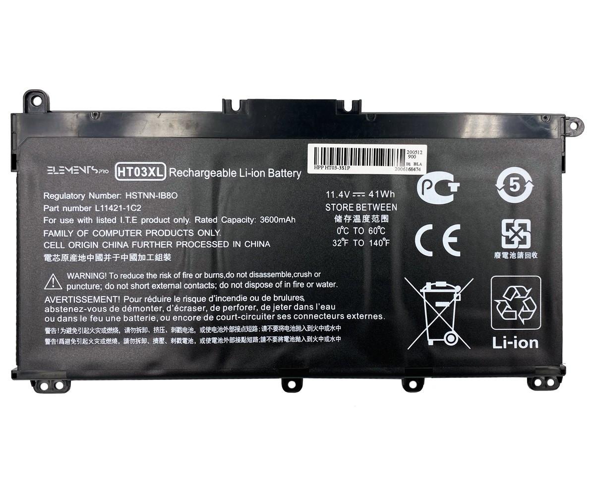 Батарея Elements PRO для HP 245 G7 250 G7 255 G7 14-CE 14-CF 15-CS 15-DA 15-DB 17-CA 17-BY 11.4V 4000mAh (HT03-3S2P-4000)