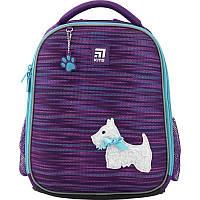 Рюкзак Kite Education для первоклассника с ортопедической спинкой каркасный  555 Cute puppy |44342