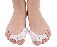 Силиконовый фиксатор корректор на три пальца ноги Valgus Pro (Вальгус Про), без плюсневой подушечки, 2 шт.