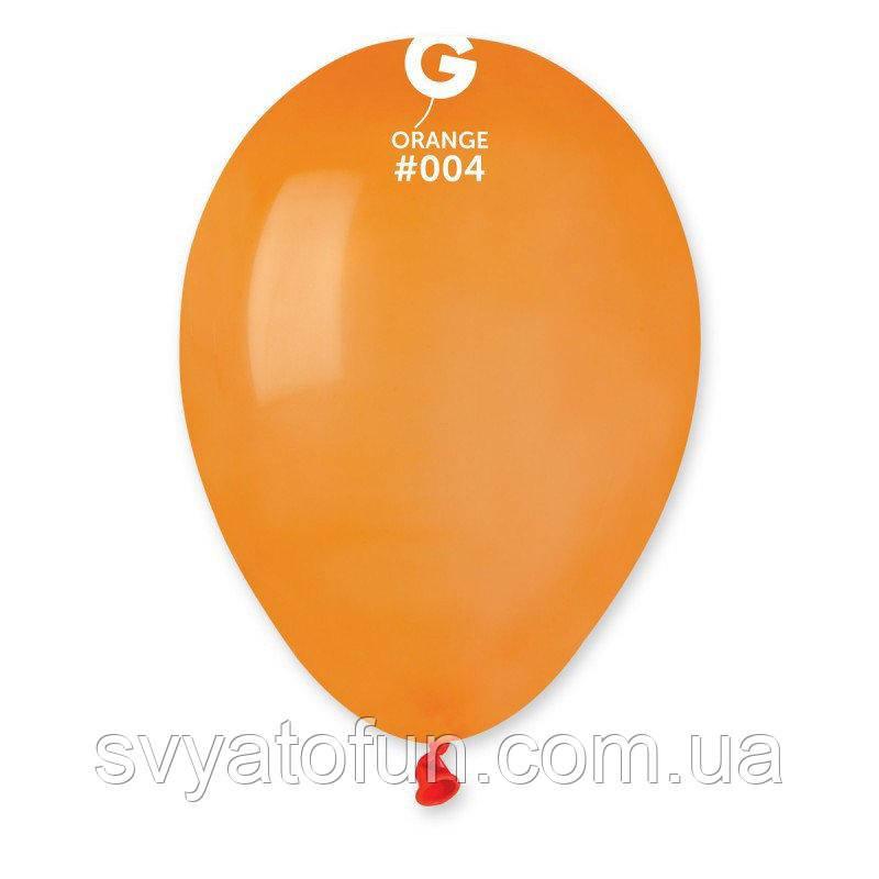 """Латексные воздушные шарики 8"""" пастель 04 оранжевый 100шт/уп Gemar"""