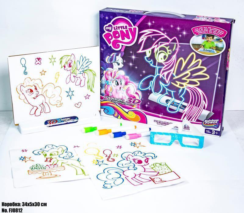 """3D доска для рисования """"Little Pony"""" FJ0812 оптом"""