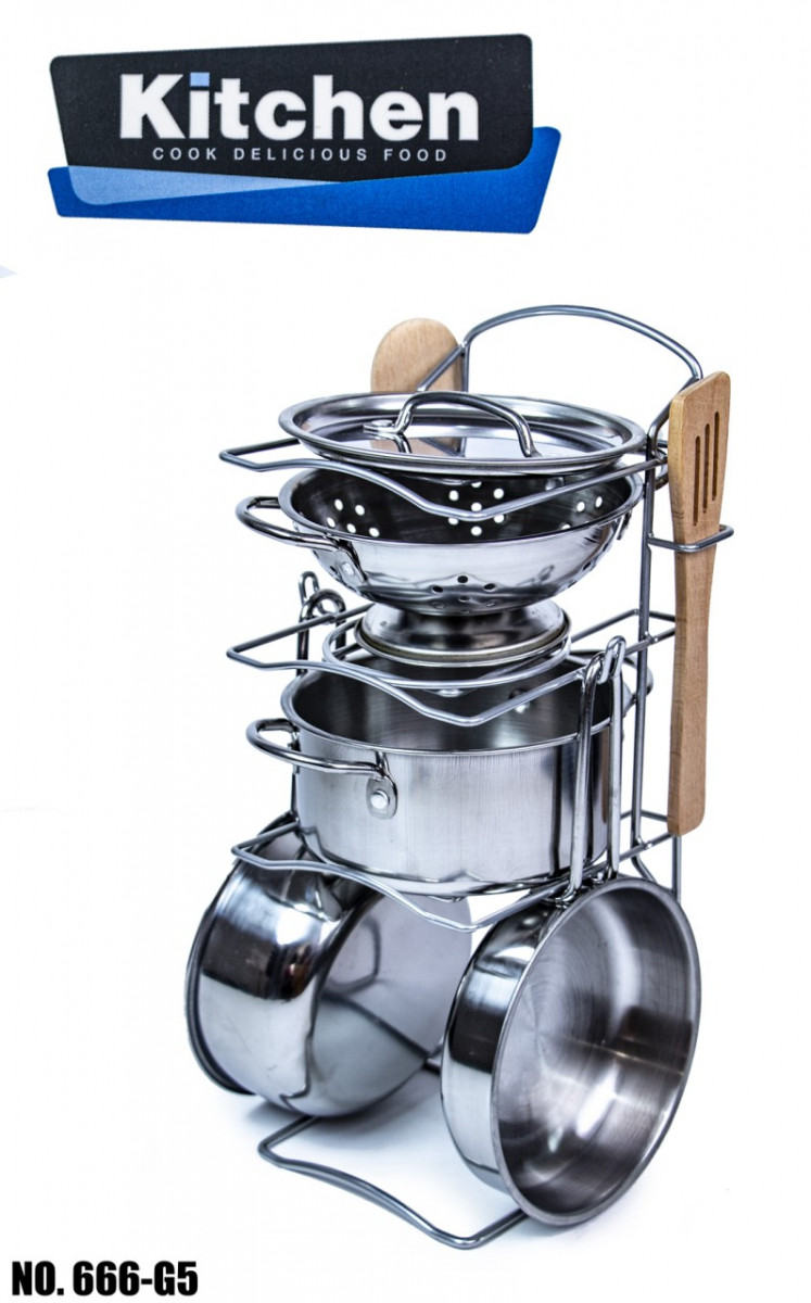 Набор игрушечной металлической посуды 666-G5 оптом