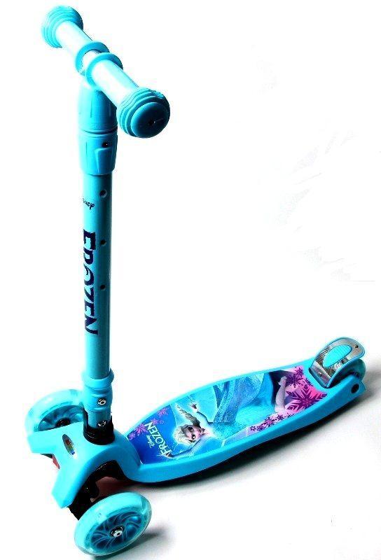 Самокат Scooter Maxi  с наклоном руля и складной ручкой Disney Frozen