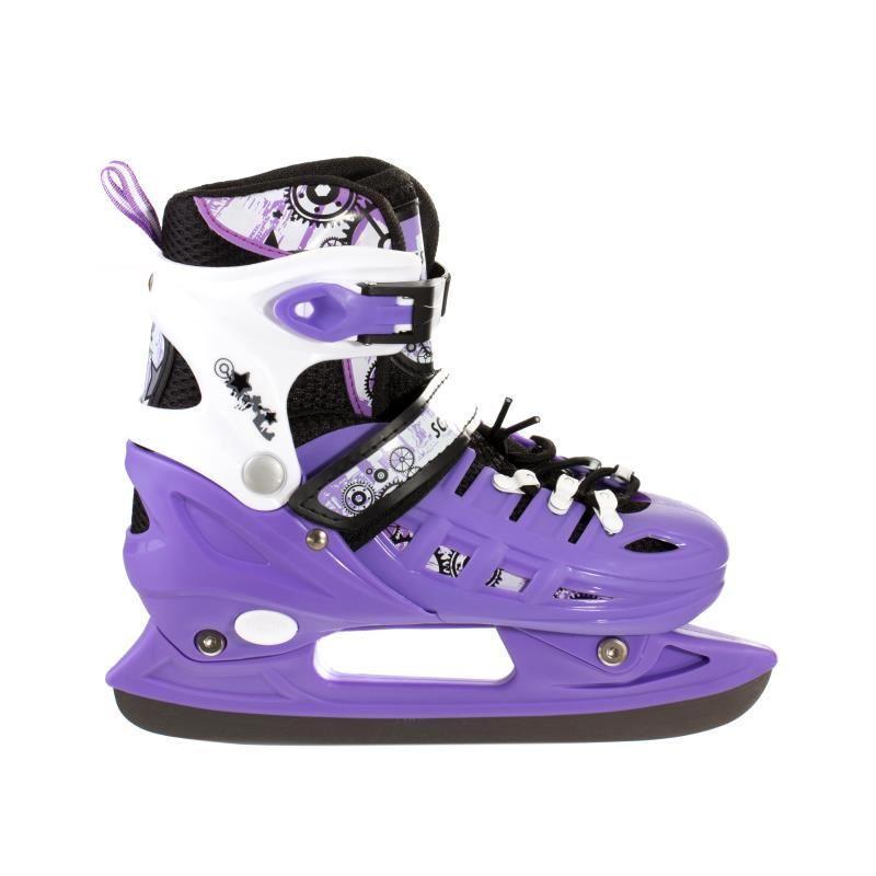 Детские коньки раздвижные Scale Sport фиолетовые размер 29-33