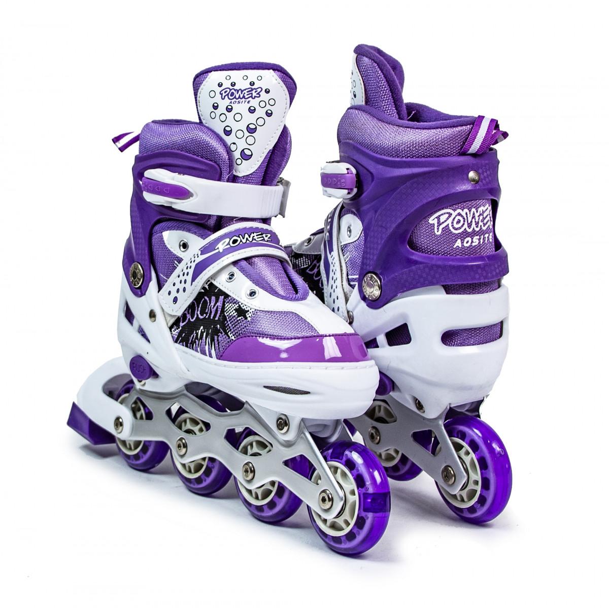 Дитячі ролики Boom Power Фіолетові розмір 34-37