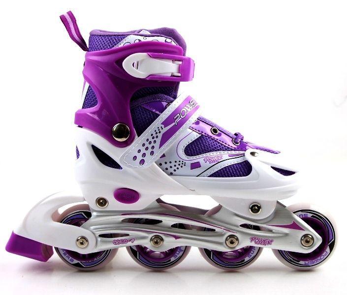 Детские ролики Superpower PU Фиолетовые размер 34-37