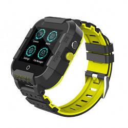Детские Умные смарт часы телефон с GPS и WI-FI Smart Baby Watch Df39Z Plus Original С видеозвонком 4G черные