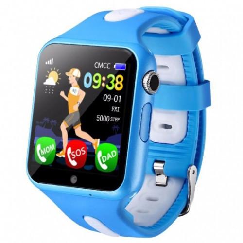 Детские умные смарт часы-телефон Smart Baby Watch V5K + Original голубые