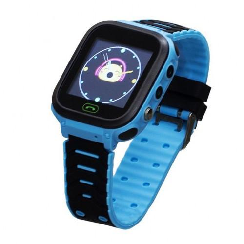 Детские умные смарт часы-телефон GPS Smart Baby Watch T18 + черно-синие (M005)