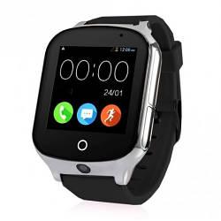 Детские Умные Смарт Часы-телефон с GPS  Baby Smart Watch A19 Original  Черные (Sm)