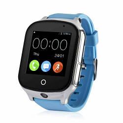 Детские умные смарт часы-телефон с GPS Smart Baby Watch A19 Original голубые (sm)