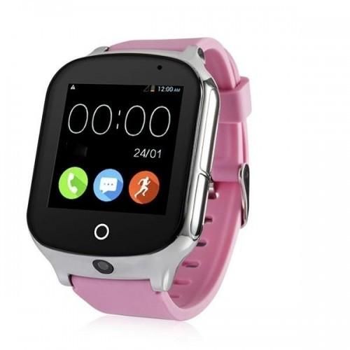 Детские умные смарт часы-телефон с GPS Smart Baby Watch A19 Original розовые (sm)