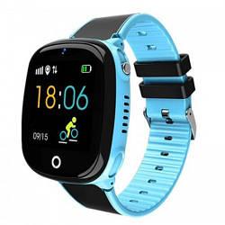 Детские Умные Смарт Часы-телефон с GPS  Baby Smart Watch Hw11 Original Aqua Plus с Водозащитой Сине-Черные