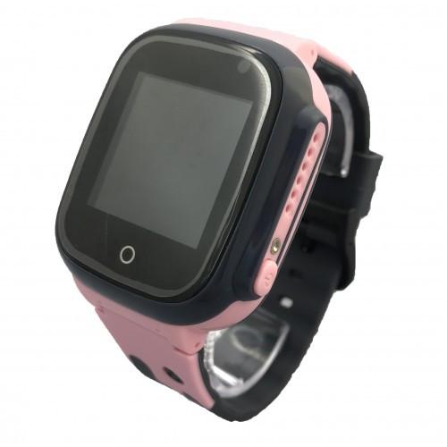 Детские умные смарт часы-телефон с GPS Smart Baby Watch A41 Original черно-розовые