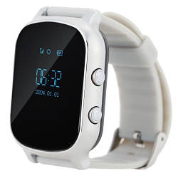Детские Умные Смарт Часы-телефон с GPS Baby Smart Watch T58+ Original  Серебристые (Sm)