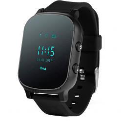 Детские умные смарт часы-телефон с GPS Smart Baby Watch T58+ Original черные (sm)