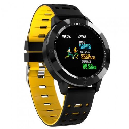 Умный фитнес браслет Smart Band PRO Cf58 тонометр черно-желтый