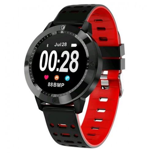 Умный фитнес браслет Smart Band PRO Cf58 тонометр черно-красный