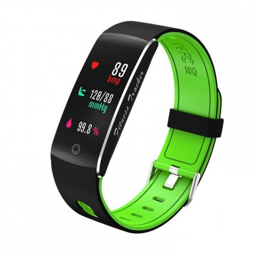 Умный фитнес браслет Smart Band PRO F10 с тонометром черно-зеленый (sm)