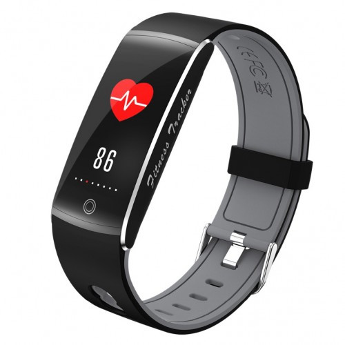Умный фитнес браслет Smart Band PRO F10 с тонометром черно-серый (sm)