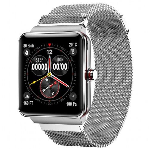 Розумний Фітнес Браслет Smart Band PRO H10 + Original З Тонометром Сріблястий