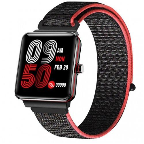 Умный фитнес браслет Smart Band PRO H10 + Original с тонометром черно-красный