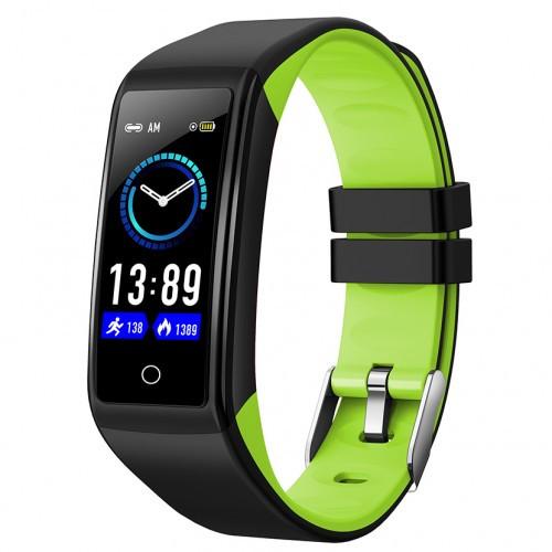 Умный фитнес браслет Smart Band PRO H3 Original с тонометром черно-зеленые