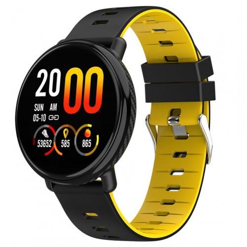 Умный фитнес браслет Smart Band PRO K1 Original с пульсометром черно-желтый
