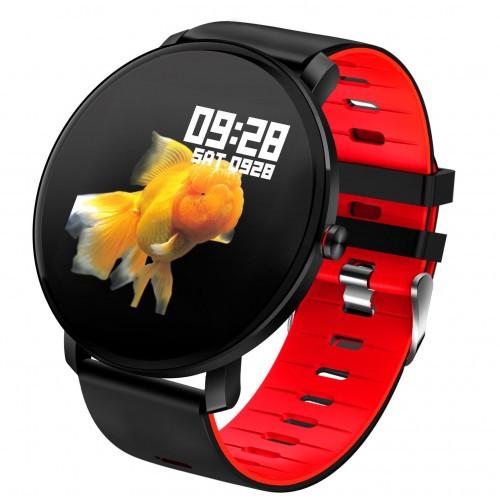 Умный фитнес браслет Smart Band PRO K9 Original с тонометром черно-красный