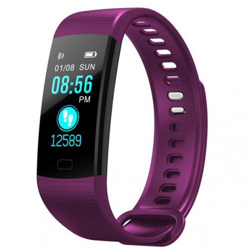 Умный фитнес браслет Smart Band PRO Y5 с тонометром пурпурный (sm)