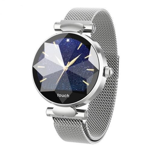 Жіночий Розумний Фітнес Браслет Smart Band PRO B80 Тонометр Сріблястий