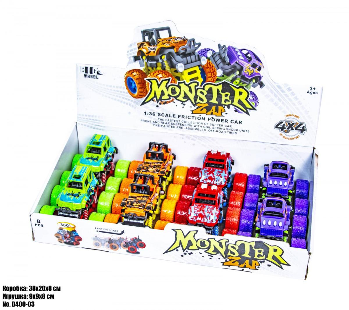 Маленькая трюковая машинка 4X4 Monster D400-03 оптом
