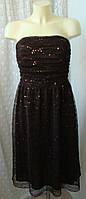 Платье женское нарядное пайетки миди бренд AGB Dress р.46 3741а