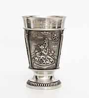 Колекционный винный бокал, олово, Германия,250 мл, фото 1