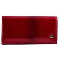 Кошелек женский кожаный на магнитах ST W-ST-01554 красный