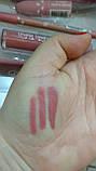 Набор для губ карандаш помада блеск коробка металл губки розовая GlamBee глемби, фото 9