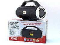 Небольшая портативная беспроводная колонка Atlanfa 1829BT с радио, USB, SD, Bluetooth, дисплеем, сабвуфером