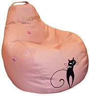 Бескаркасное детское кресло мешок груша Кошка