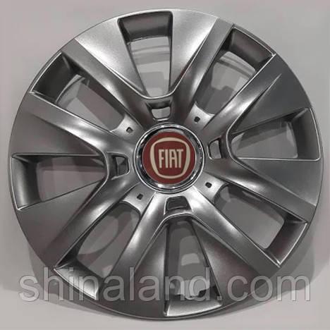 Колпаки R15 Fiat серебро - (SJS 334) - комплект (4 шт.)