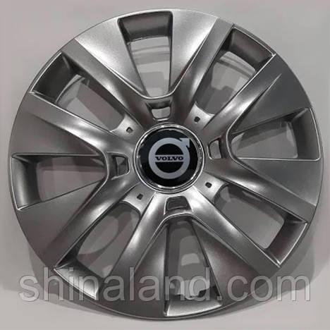 Колпаки R15 Volvo серебро - (SJS 334) - комплект (4 шт.)