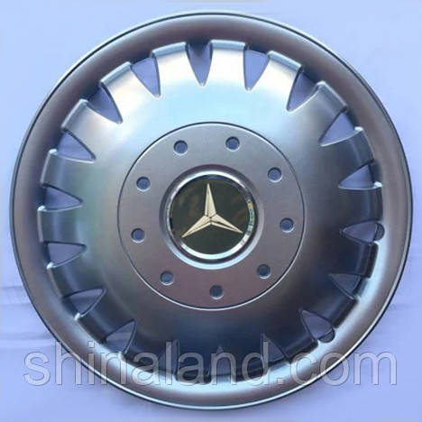Колпаки R16 Mercedes-Benz серебро - (SJS 410) - комплект (4 шт.)