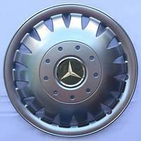 Колпаки R16 Mercedes-Benz серебро - (SJS 410) - комплект (4 шт.), фото 1