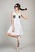 Сарафан в стилі мілітарі M collection - білий колір, L (є розміри), фото 1