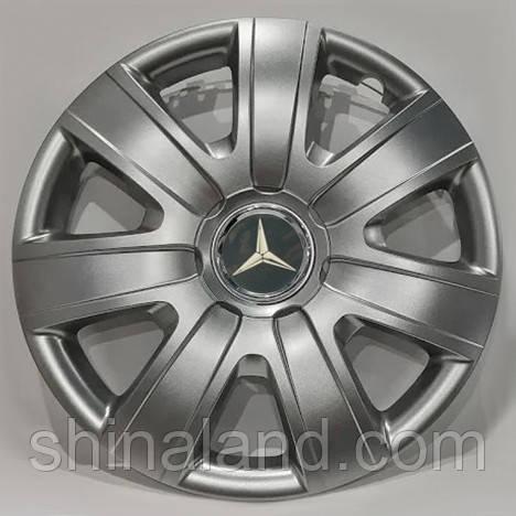 Колпаки R16 Mercedes-Benz серебро - (SJS 415) - комплект (4 шт.)