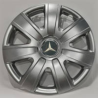 Колпаки R16 Mercedes-Benz серебро - (SJS 415) - комплект (4 шт.), фото 1