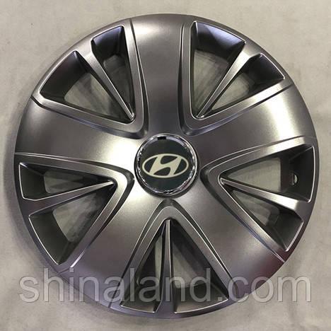 Колпаки R15 Hyundai серебро - (SJS 341) - комплект (4 шт.)