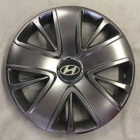 Колпаки R15 Hyundai серебро - (SJS 341) - комплект (4 шт.), фото 1