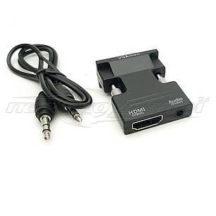 Конвертер (мини)  HDMI to VGA + 3.5 Audio, фото 2
